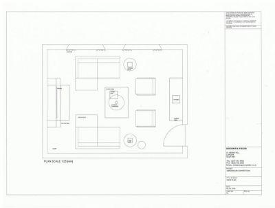 Living Room Plan Scale 1 25 Dagmar Holubova Interior