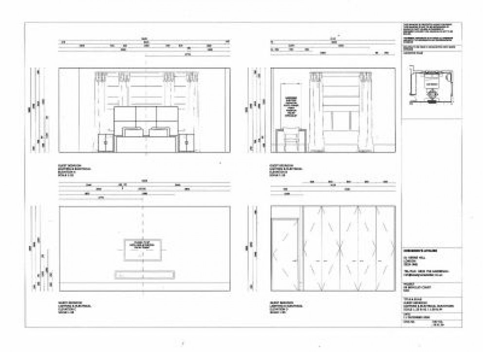 Guest Bedroom Elevations Berkeley Court London Renovation 5 Bed