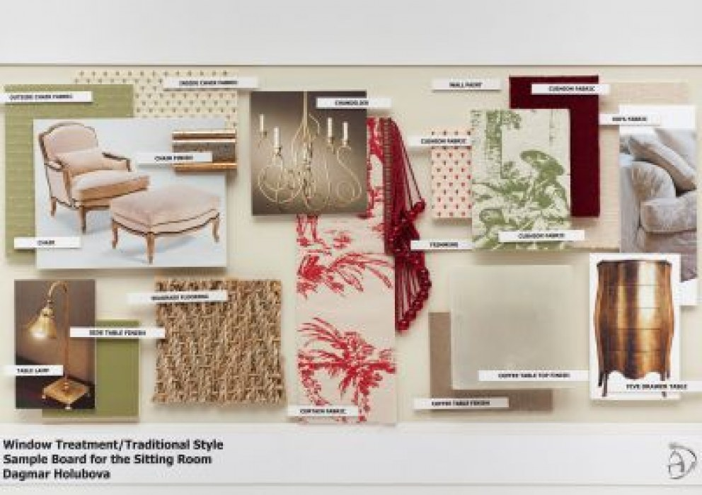 Sitting Room Traditional Contemporary Style Sample Board For The Sitting Room
