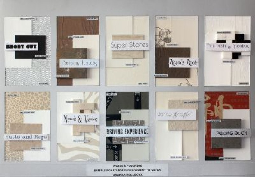 of Shops - Walls & Flooring | Sample Board for Development of ...