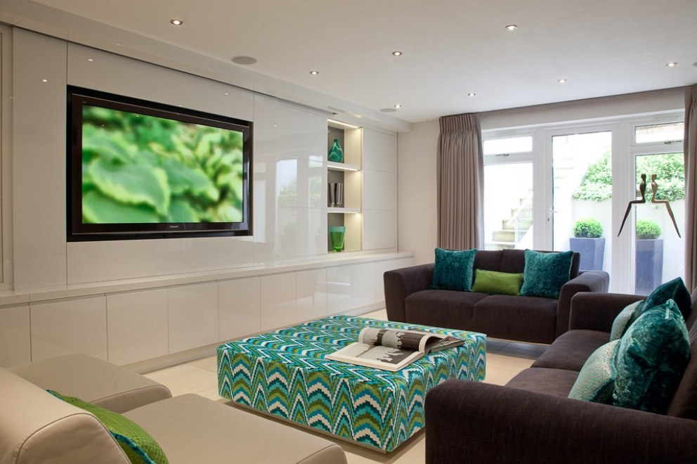 Family home in north london basement cinema and playroom for Interior designers north london
