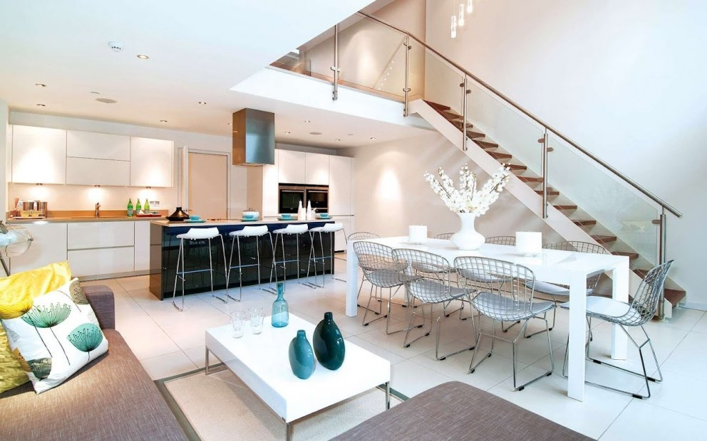 Double Height Kitchen Living Dining Room