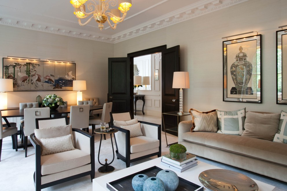 Hyde Park | Living/Dining Area | Interior Designers