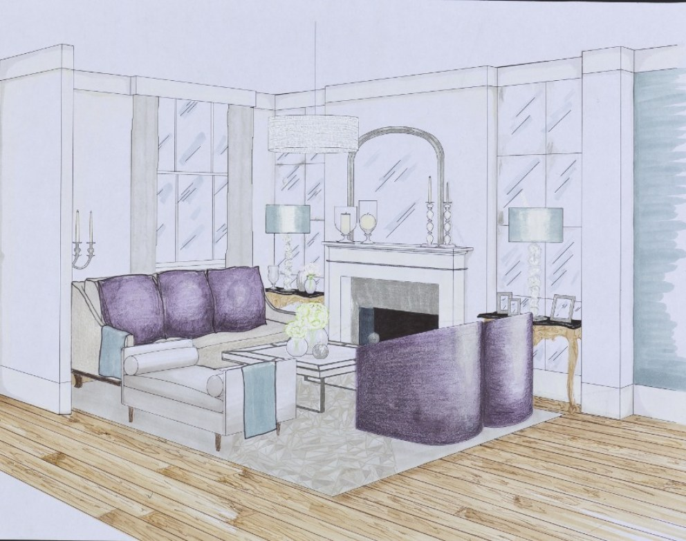 Awesome Drawing Room U0026 Study, Kensigton | Perspective Drawing | Interior Designers