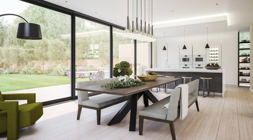 Victorian Villa - Highgate | Family Dining Kitchen Area with Boffi Kitchen | Interior Designers