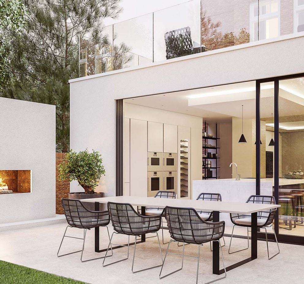 Victorian Villa - Highgate | Contemporary Extension with outdoor fire | Interior Designers