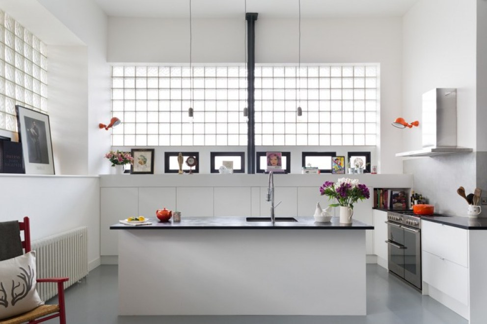 Industrial Warehouse Flat | Open Plan Kitchen | Interior Designers