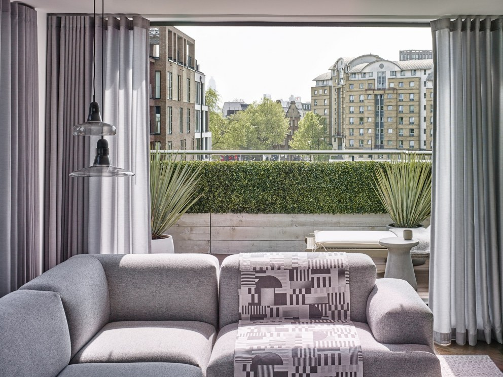 Blackfriars - The Penthouse | Living room  | Interior Designers