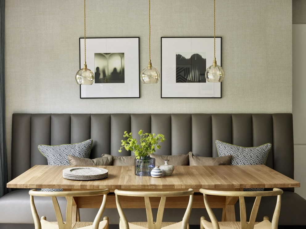 Dining Area Banquette Seating West London Riverside Home Interiordesigners Net