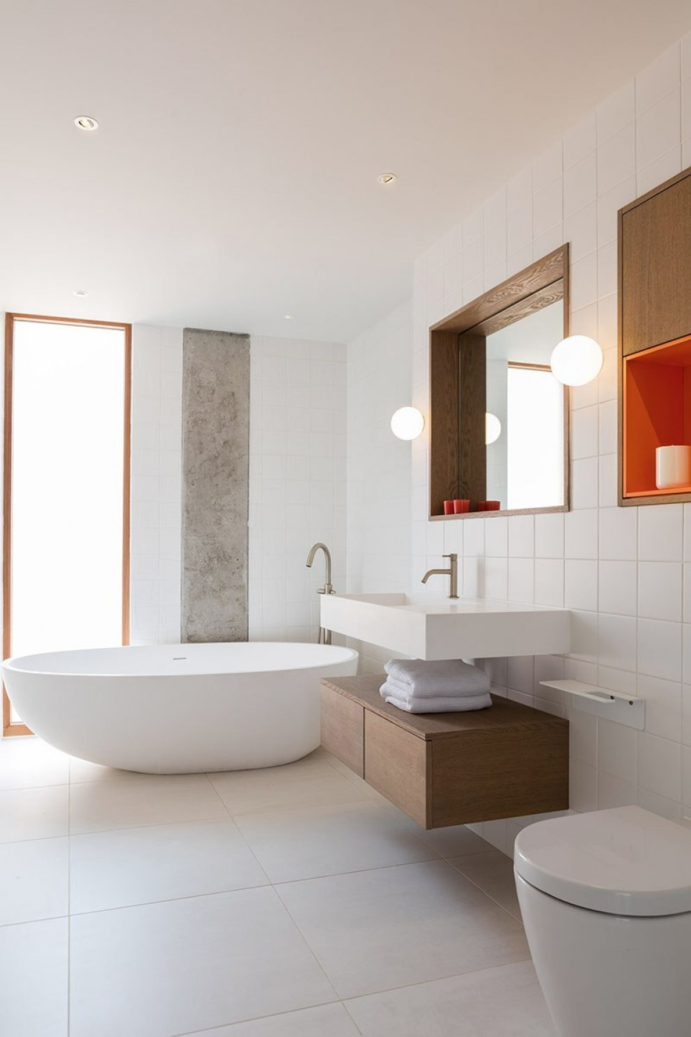 West London contemporary build | Contemporary bathroom | Interior Designers