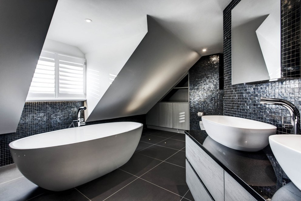 Wiltshire family home | Contemporary, luxury bathroom | Interior Designers
