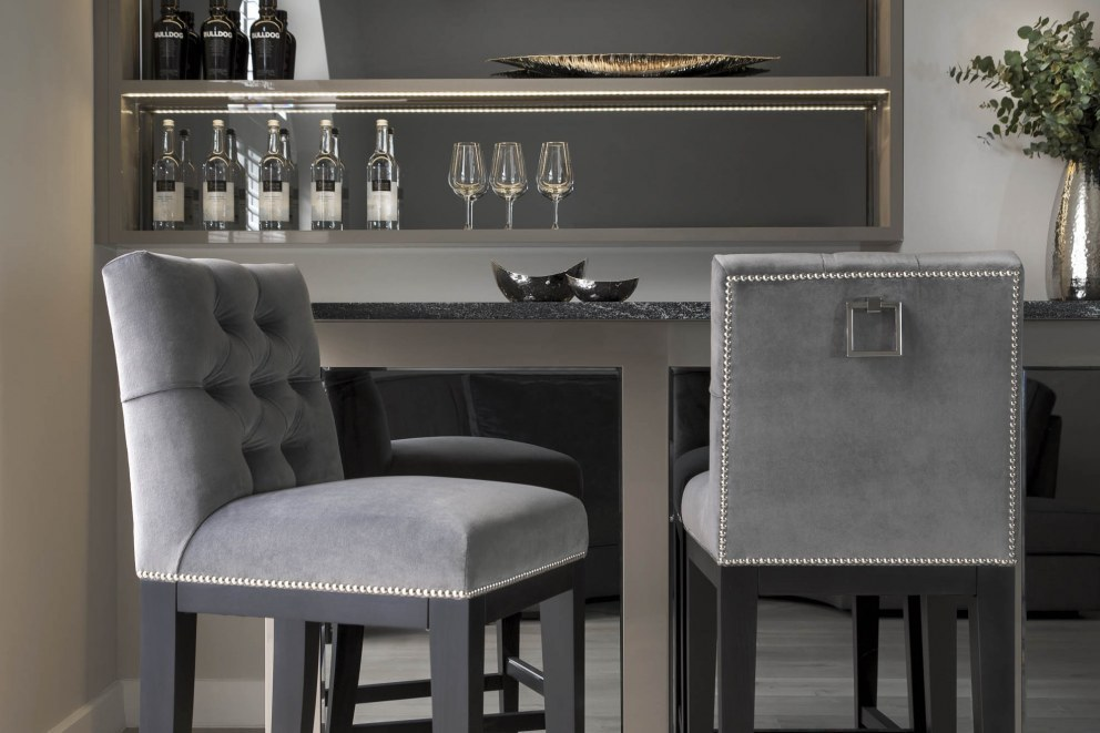 Wiltshire family home | Bespoke home bar | Interior Designers