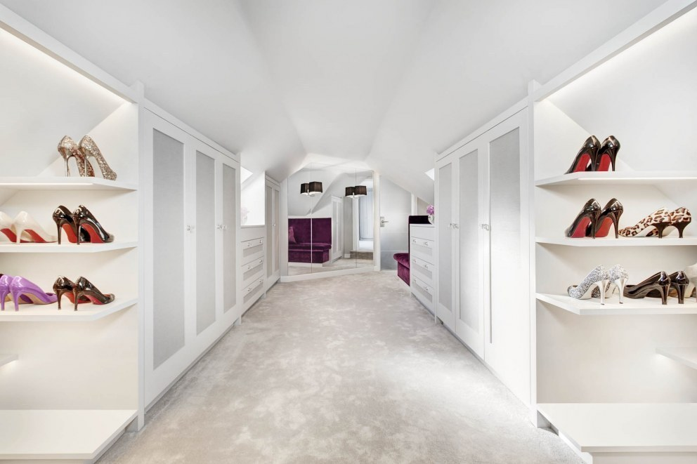 Wiltshire family home | Bespoke dressing room | Interior Designers