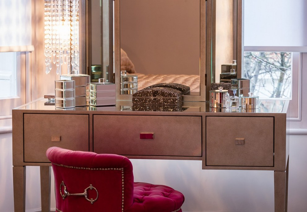 Elegant West London Town House | Bespoke Dressing Table | Interior Designers