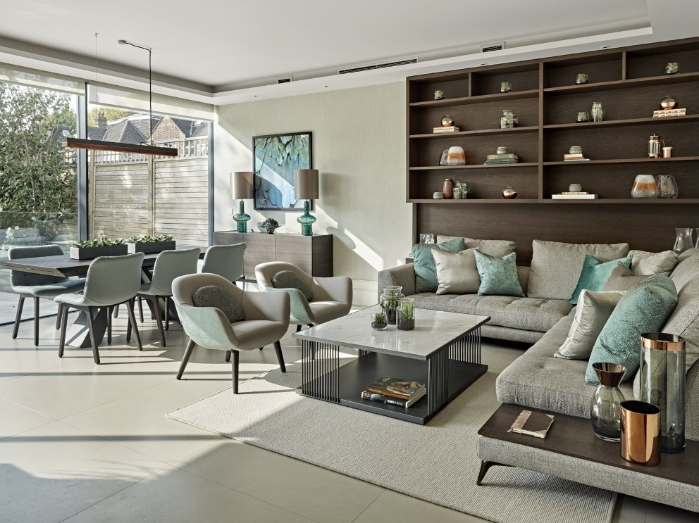 Barnes family house | Living dining area | Interior Designers