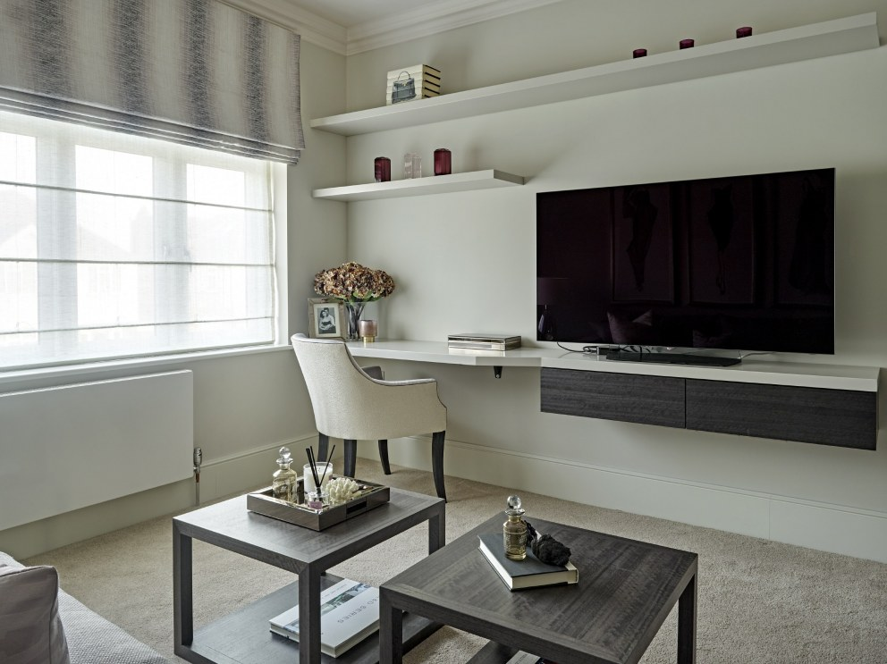 Barnes family house | Television room/study | Interior Designers