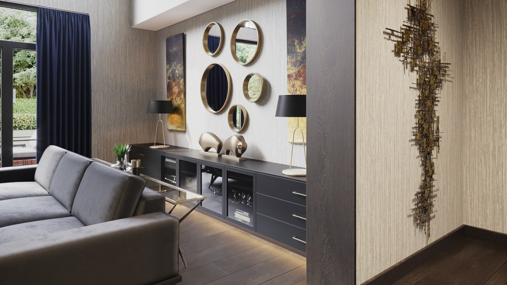 Richmond - Luxury Private Residence | Formal Lounge Bespoke Unit | Interior Designers