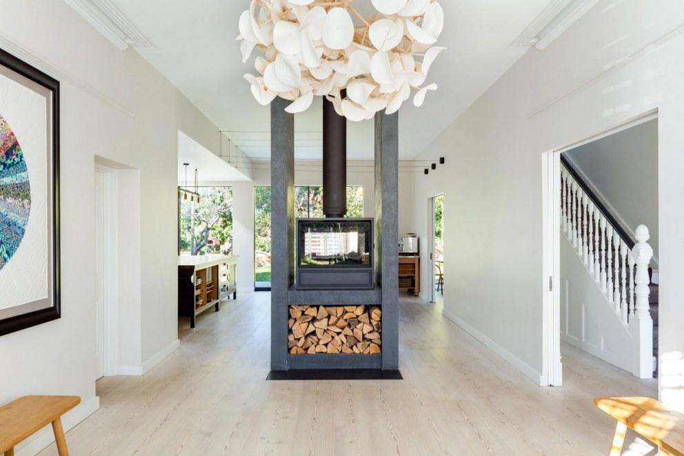 Log Burner Through Space Large Home In South East London Interiordesigners Net