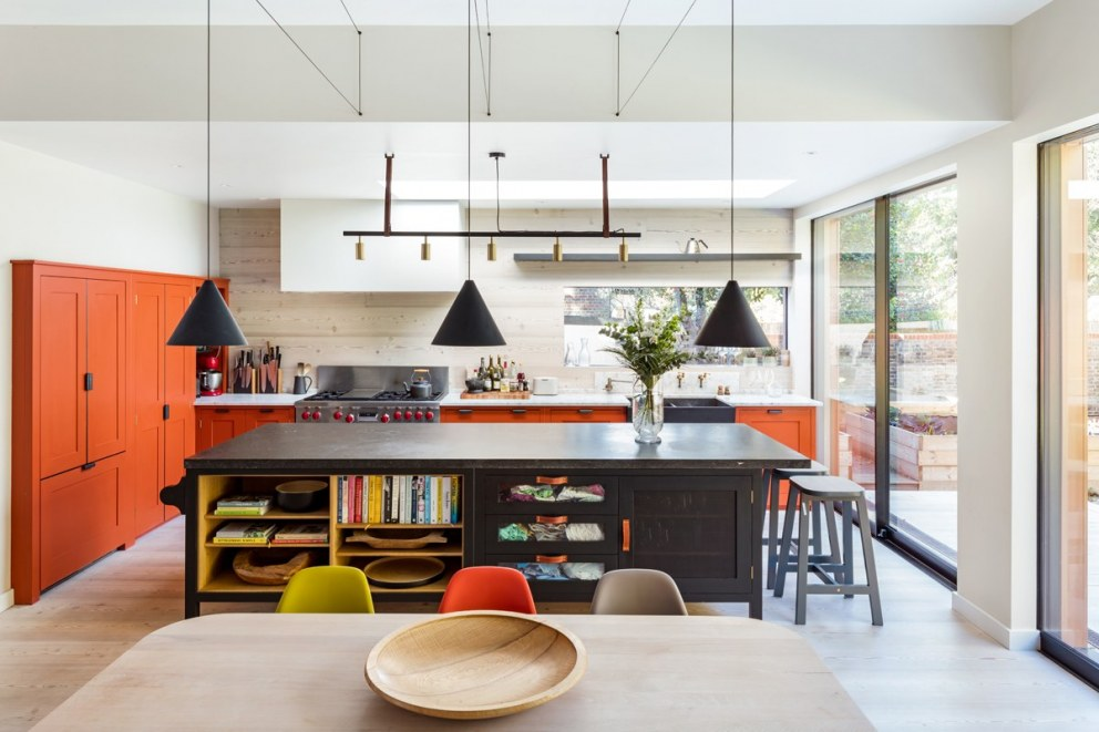 Bright Kitchen Large Home In South East London Interiordesigners Net