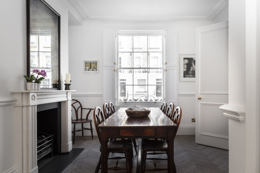 Georgian townhouse in Chelsea | Dining room | Interior Designers