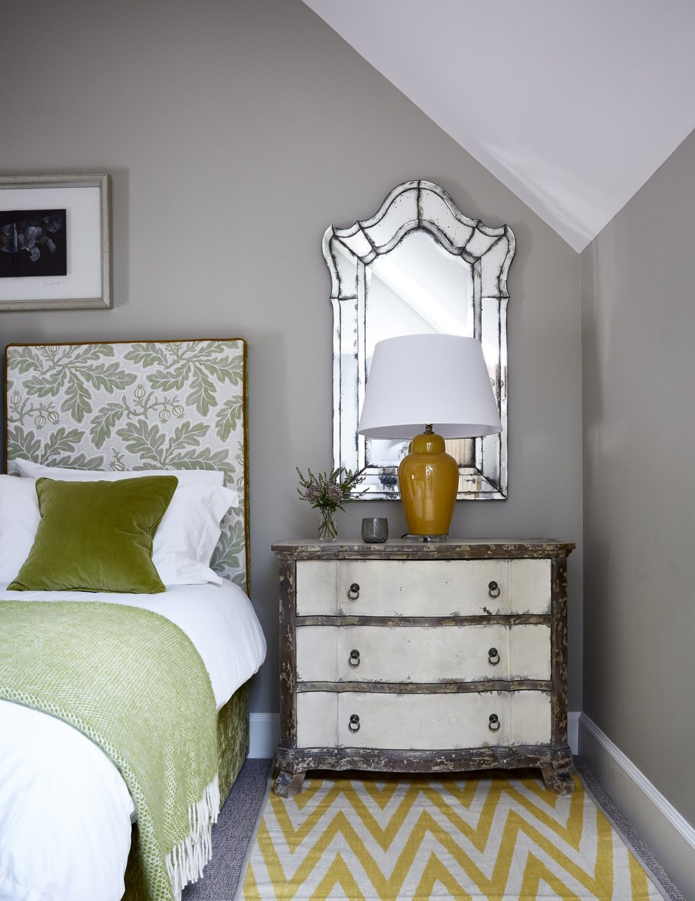 Scottish Holiday Cottages | Green Bedroom | Interior Designers
