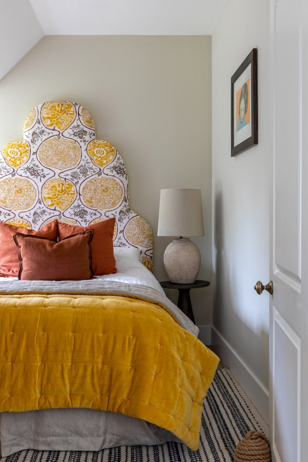 The Field House | Yellow Guest Bedroom | Interior Designers