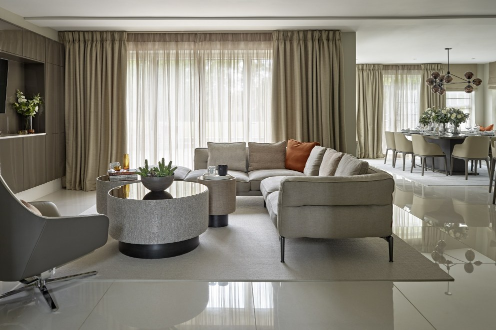 Farnham | Living-dining area | Interior Designers