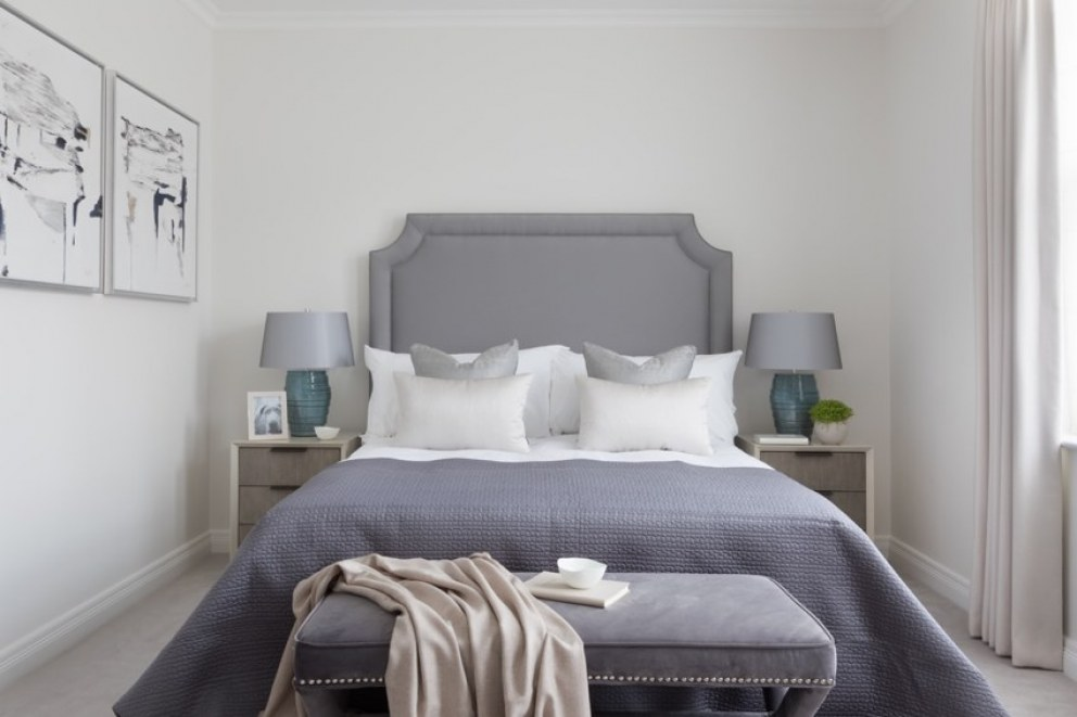 Richmond Chase  | Guest Bedroom headbaord | Interior Designers