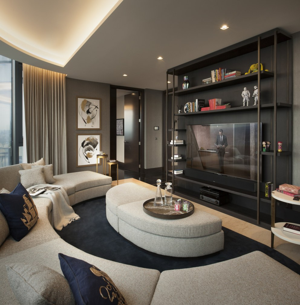 Corniche Penthouse B | Cinema room | Interior Designers