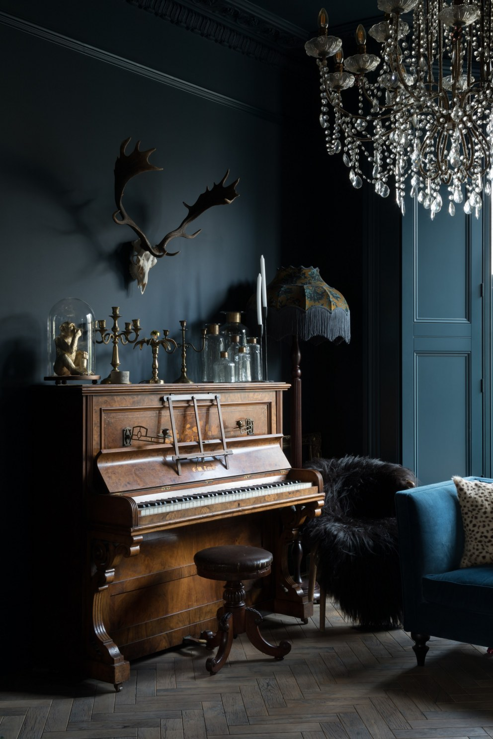 Navarino Road - the dark side | Living room | Interior Designers