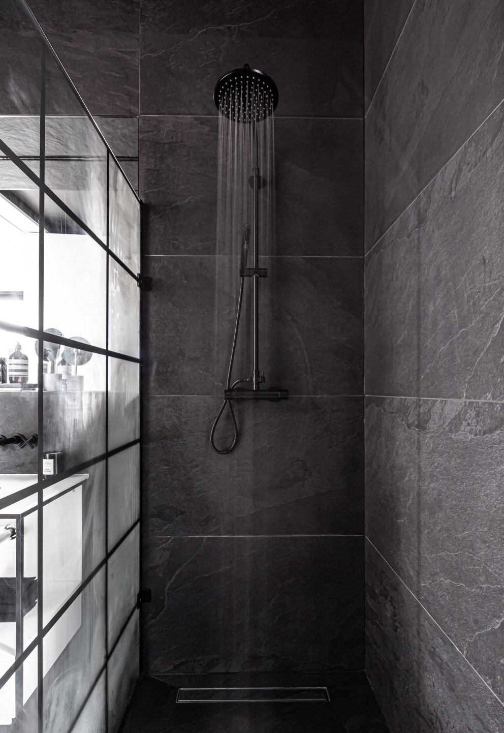 Hedge House | Black Shower | Interior Designers