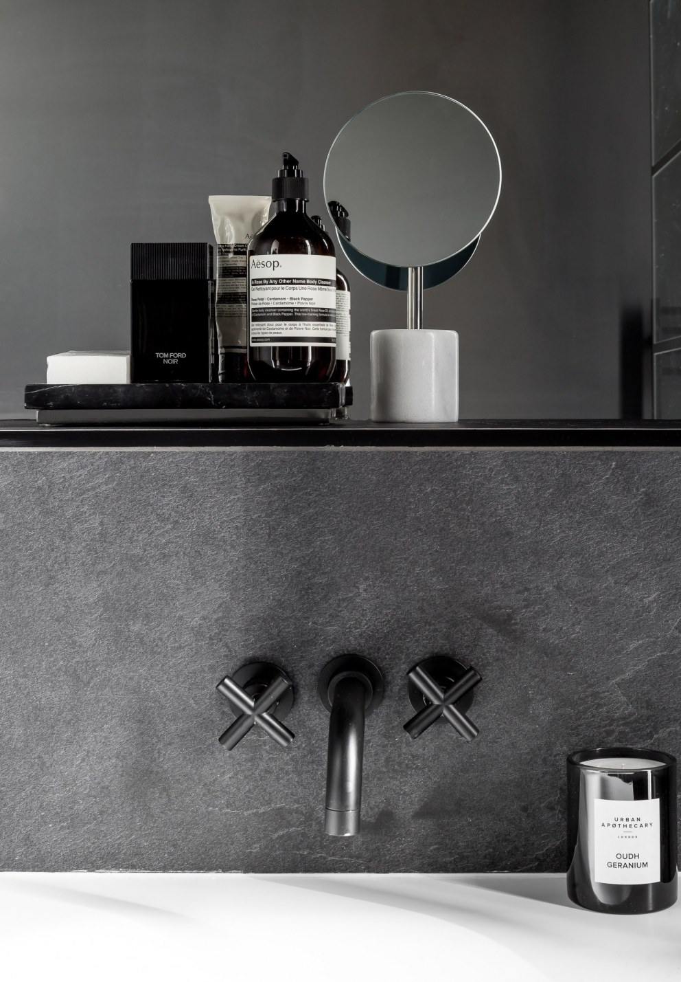 Hedge House | Black Bathroom | Interior Designers