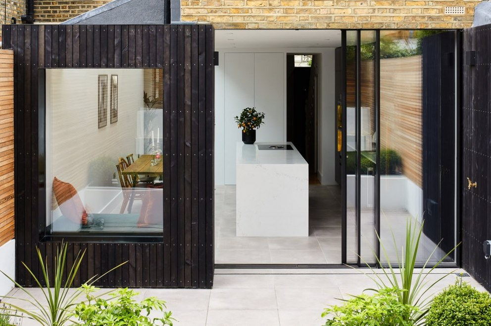 Walthamstow Extension | Black timber cladding | Interior Designers